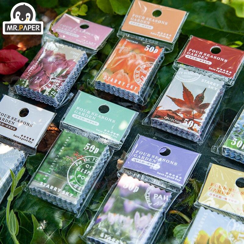 el-sr-de-papel-8-diseno-ins-estilo-cuatro-temporadas-series-de-jardin-pegatina-de-sello-creativo-mini-sello-bolsillo-etiqueta-engomada