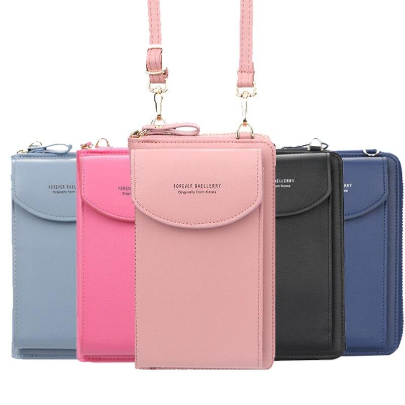wallet women Diagonal PU multifunctional mobile phone clutch bag Ladies purse large capacity travel card holder passport cover