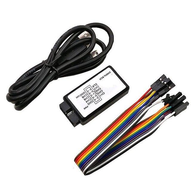 Analizador USB logic MCU ARM FPGA herramienta de depuración 24M muestreo 8 canales