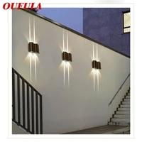oufula outdoor sconce light aluminum led modern patio wall lamp waterproof creative decorative for porch balcony corridor
