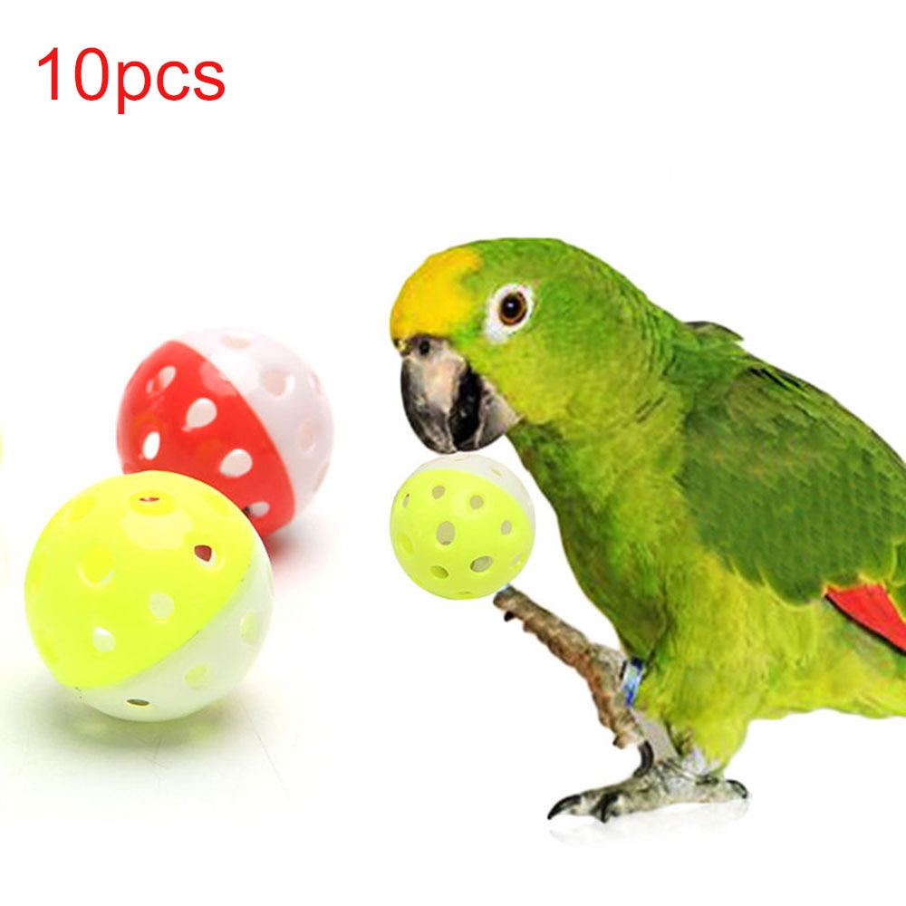 10db-os játék a papagáj színes üreges guruló - Pet termékek - Fénykép 2