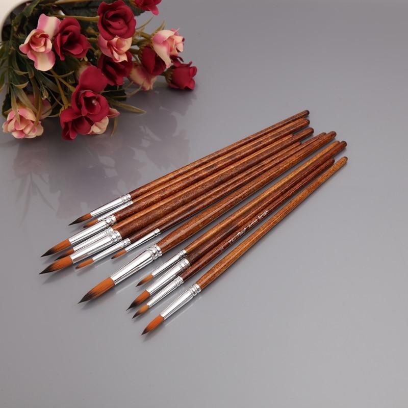 12-uds-pintura-de-artistas-cepillo-set-cabello-de-nylon-acrilico-acuarela-redondo-punta