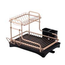 2020 nuevo estante para platos de aleación de aluminio organizador de cocina almacenamiento escurridor Placa de secado estante fregadero suministros cuchillo y recipiente para tenedores