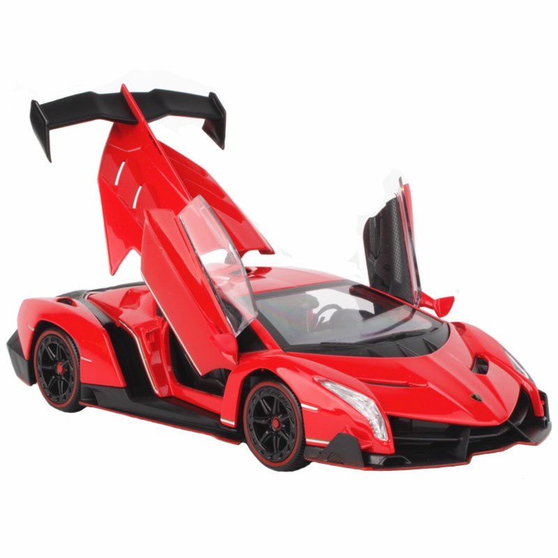 1:24 Alloy Car Model Diecast Toy Vehicles Racing Car Sound Light Pull Back Sport Car Doors Open For Kids Toy Car Decoration Gift недорого