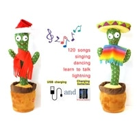 funny 32cm electric dancing plant cactus plush stuffed toy with music for kids children gifts home office decoration