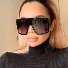 2020 Newest Design Big Frame Oversized Sunglasses Women Luxury Brand Large Flat Top Sun Glasses Tren