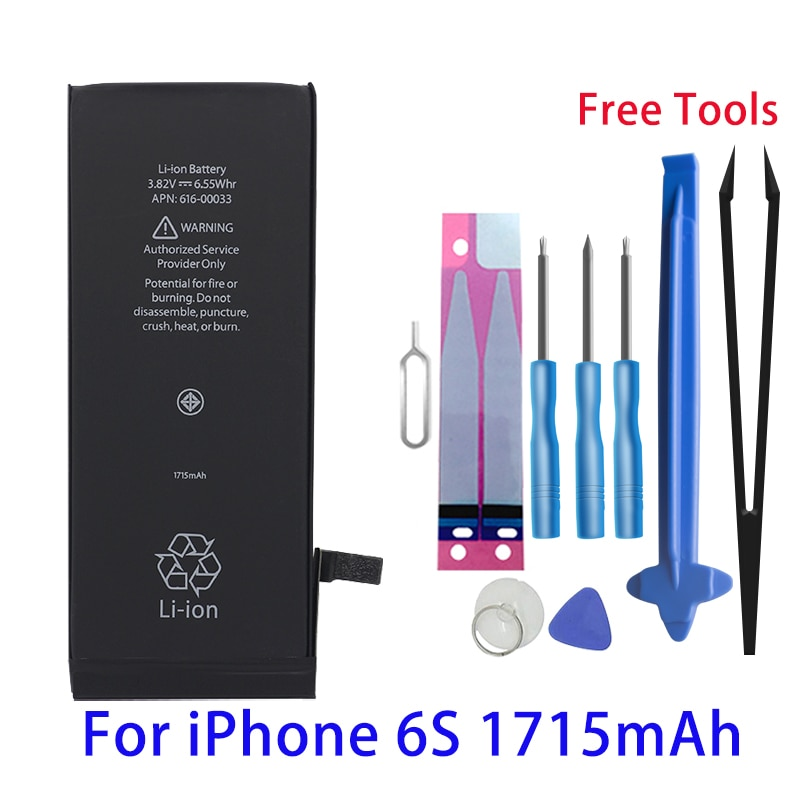 Runtianjin Replacement mobile phone battery for iPhone 6s 6S 1715mAh High Capacity Bateries Free Tools