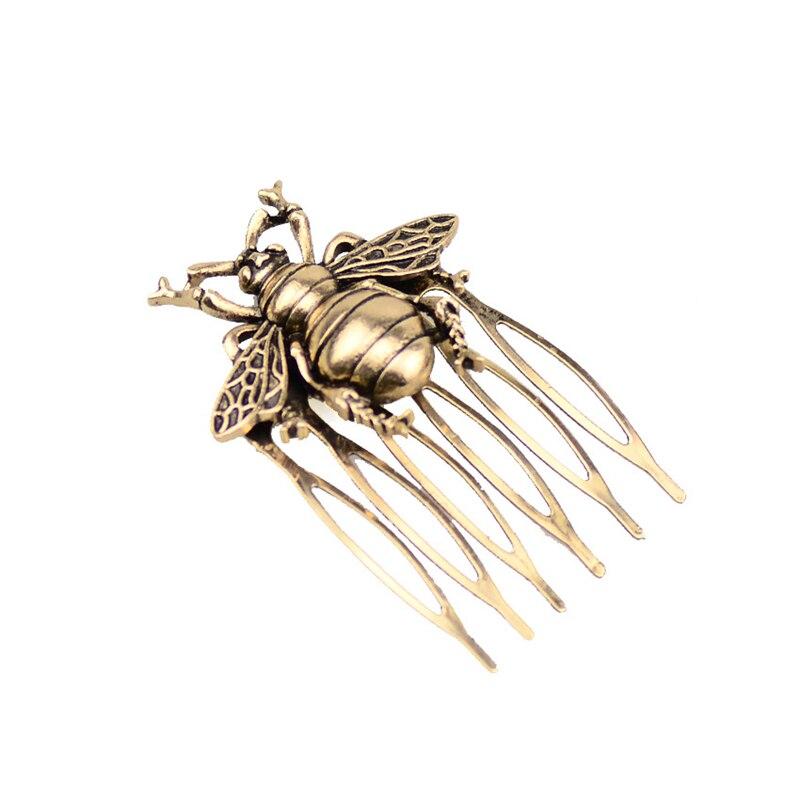 Peine de aleación Retro caliente, peine de pelo de abeja, Clip de pelo de estilo antiguo, accesorios para el cabello, soporte de cola de caballo