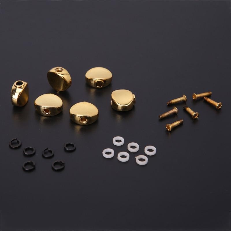 Peça de substituição para afinador de violão, 6 peças, cabeça de metal, pegos de ajuste, acessórios para guitarra