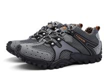 Tmallfs randonnée trekking wading chaussures hommes baskets antidérapant en cuir véritable maille respirant marche montagne escalade voyage chaussures