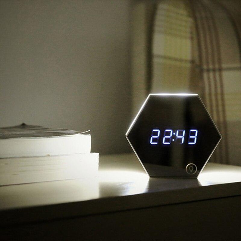 Nuevo reloj de pared multifunción electrónico, reloj de pared con alarma de pantalla Digital, reloj despertador, termómetro emisor de luz