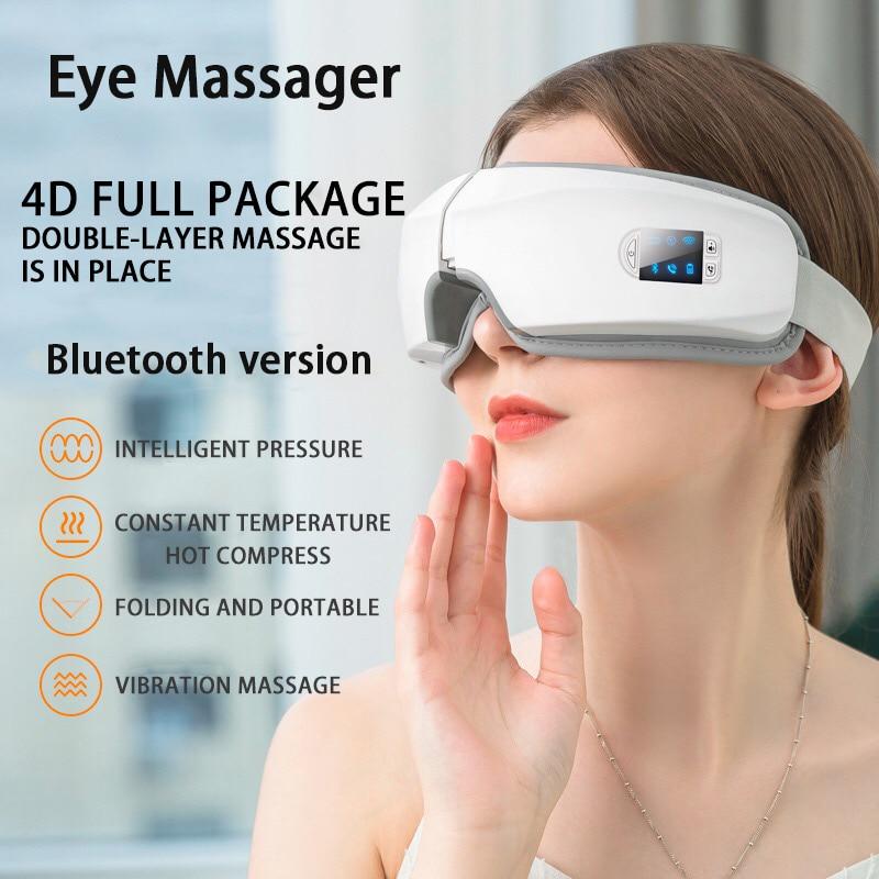 4D Smart Airbag Vibration Eye Massager Eye Care Instrumen Heating Bluetooth Music Relieves Fatigue A