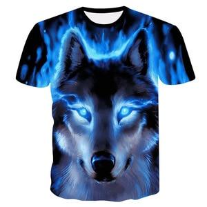 Male Fashion T-shirt Male 2021 Newest 4XL Wolf 3D Print Animal Cool Funny T-Shirt Men Short Sleeve Summer Tops T Shirt