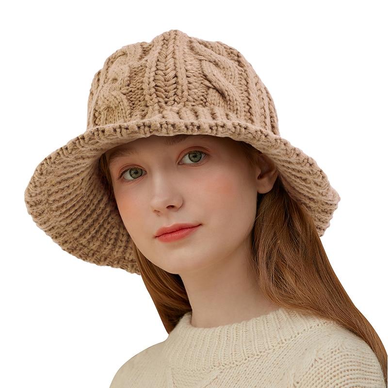 Nieuwe Hoeden Voor Vrouwen Plain Gebreide Kabel Emmer Hoed Zachte Warme Visser Caps Zonneklep Ademend Gebreide Haak Hoed Cloche cap