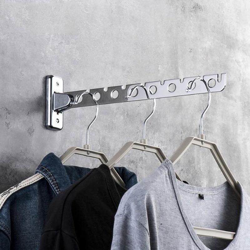 Вешалка для одежды, вешалка для одежды, настенная вешалка из нержавеющей стали, комнатные компактные вешалки для одежды