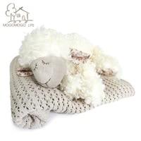 luxury 20cm white sheep plush toys high quality soft fluffy lamb gift stuffed animals cute classic cuddle doll for children