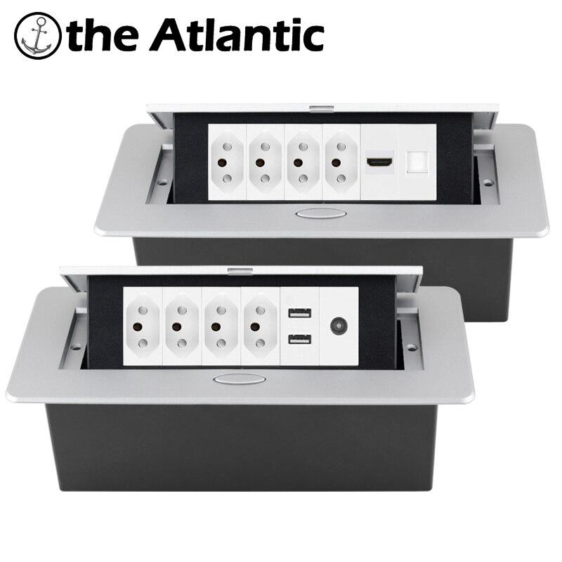 الجدول منفذ سطح المكتب المقبس راحة قطاع الطاقة المقبس USB RJ45 TV HDMI البيانات سطح المكتب المنبثقة نوع N البرازيل جنوب أفريقيا المقبس