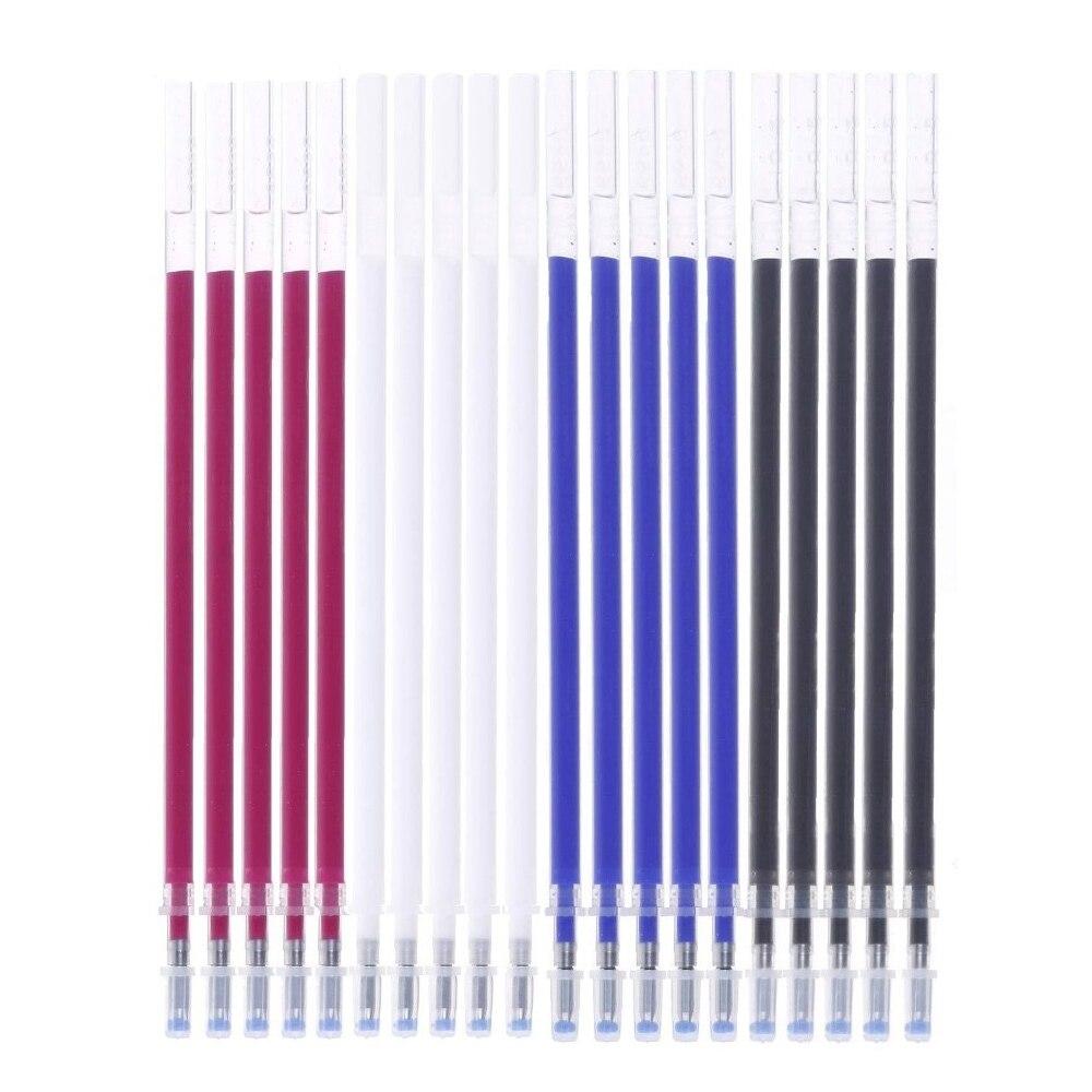 Plumas borrables de repuesto borrables con calor de 20 piezas, bolígrafo que desaparece con la temperatura, para Patchwork, pluma marcadora de tela, accesorios de costura
