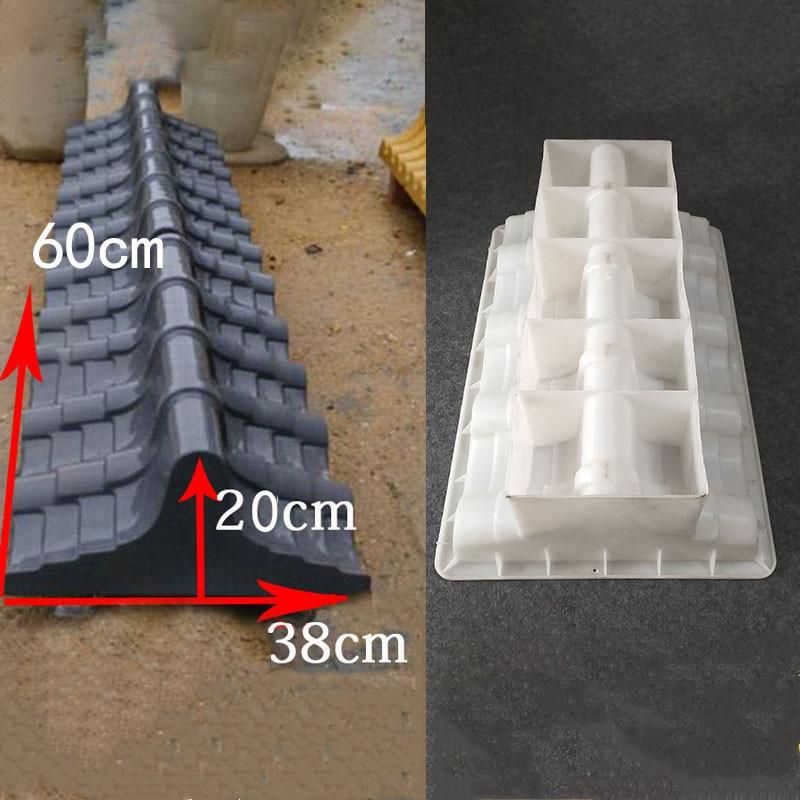 الاسمنت العتيقة الطوب قالب مربع حديقة سقف صنع قالب الطوب ثلاثية الأبعاد نحت المضادة للانزلاق قوالب رصف البلاستيك ملموسة 60x38x20cm