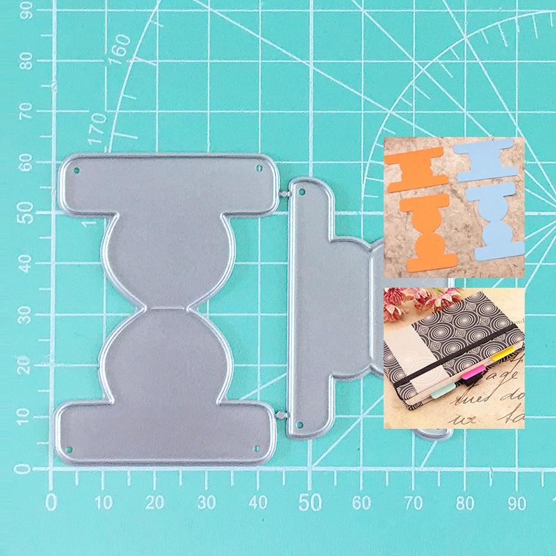 Notebook Book Label Craft Metal Cutting Frame Templates Scrapbooking Embossing Paper Cards Photo Album Craft Stencils Dies