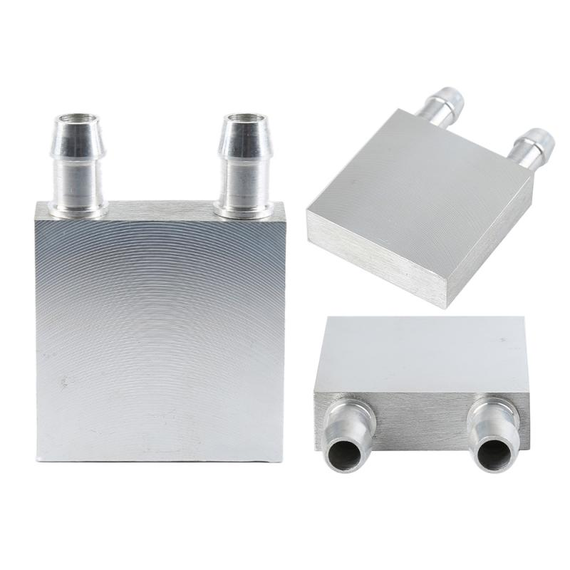 Computer Components Liquid Cooling Block 40x40 X12mm Aluminium For CPU GPU Silver Mini Water Cooling Heatsink