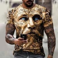 summer new 3d printing mens short sleeved retro t shirt mens fashion and comfortable breathable o neck t shirt xxs 6xl