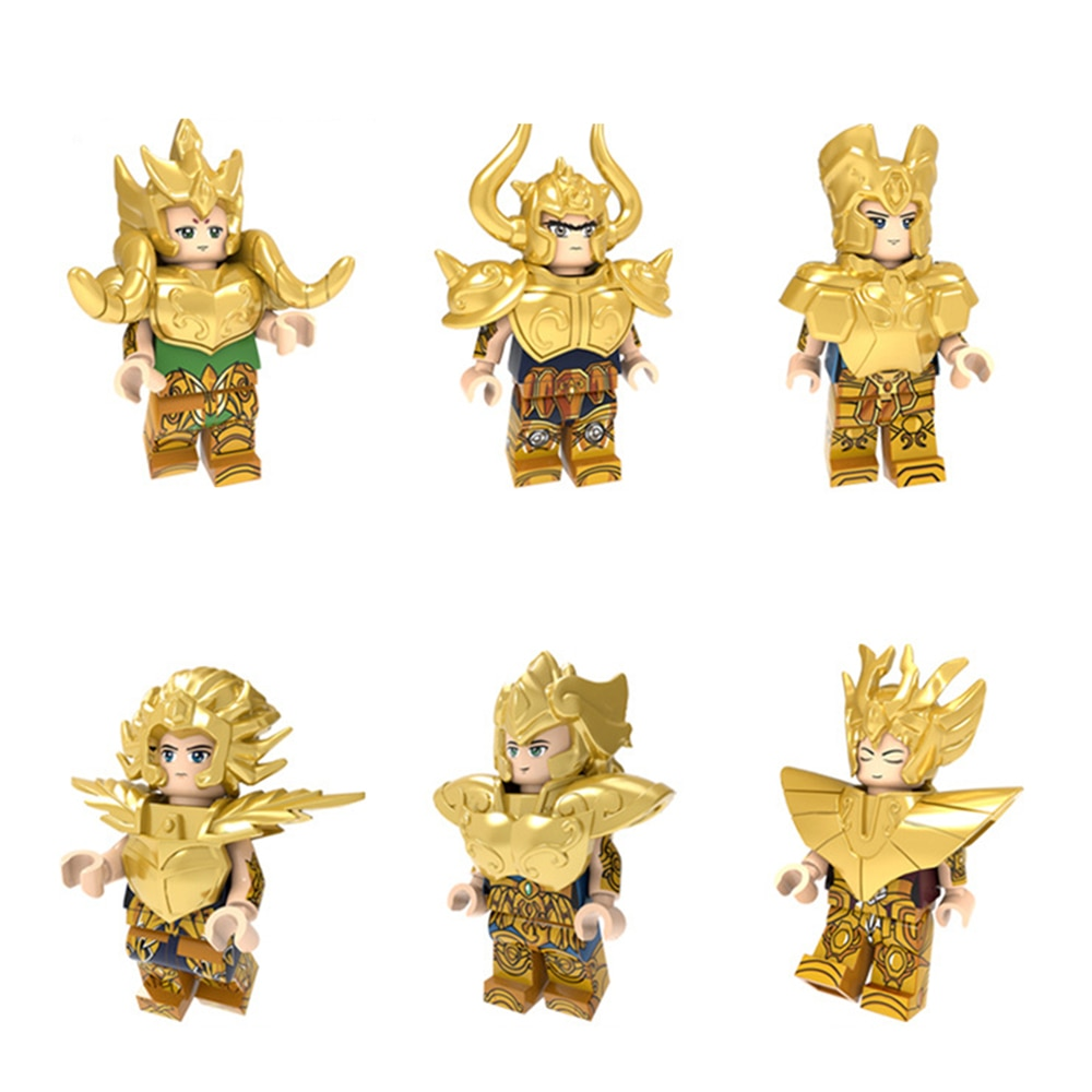 6-20 piezas de figuras de LEGO compatibles con Anime bonito Mitoushi Seiya Seiko Juuni Kyuu Hen Saint Seiya lego bloques de construcción de juguete chico