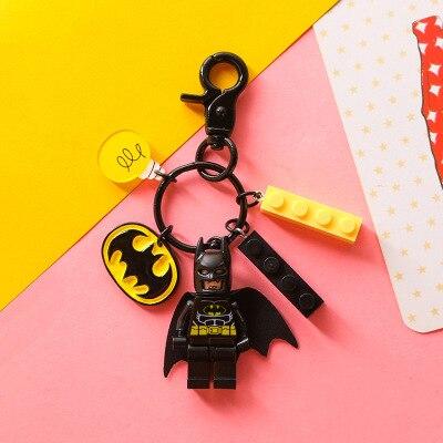 2020 pareja llave de estudiante cadenas Batman plástico Superman Star Wars Linda llave de personalidad cadena colgante creativo