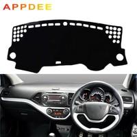 APPDEE Car Dashboard Cover Dash Mat Carpet Cape For Kia Picanto Morning 2012 2013 2014 2015 2016 2 Layers Auto Sunshade Cushion