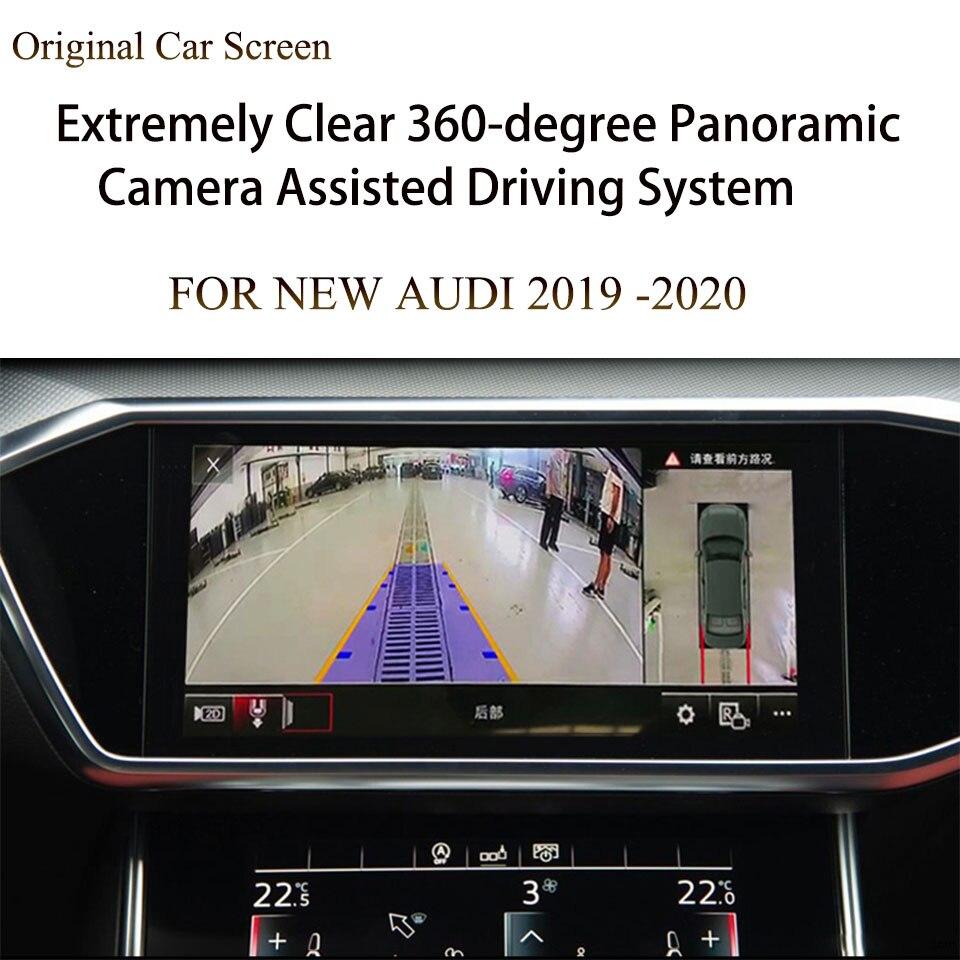 Aide au stationnement Auto pour AUDI   Nouvel écran tactile MMI 10 pouces, Radio 4 vidéo Surround View HD 2020, caméra de voiture, 360
