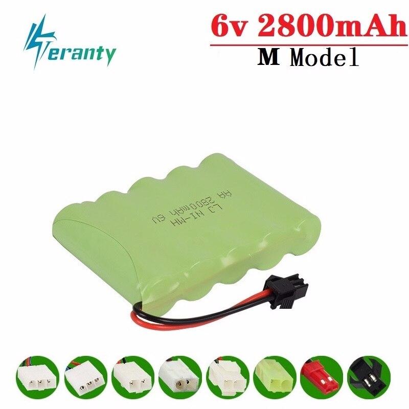 2800mah 6v Rechargeable Battery For Rc toys Cars Tank Truck Robots Gun NiMH Battery AA 6v 700mah Batteries Pack For Rc Boat 1PCS