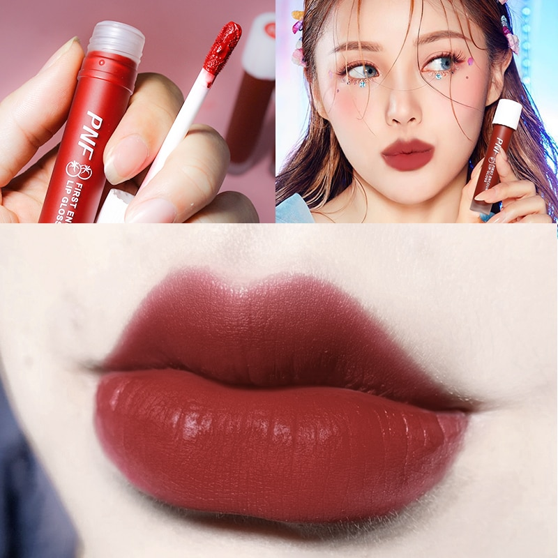 Small Blood Vessel Matte Velvet Lip Glaze Not Easy To Fade Lipstick Waterproof Non-stick Lip Gloss Long-lasting Lip Makeup TSLM1 недорого