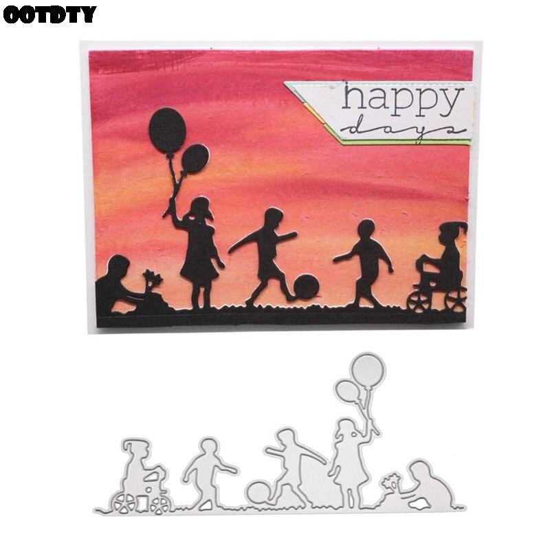 Troqueles de Metal para niños, plantilla para álbum de recortes de bricolaje álbum de estampillas estampado de tarjeta de papel adornos para manualidades