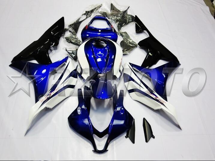 Molde de inyección nuevo ABS Kit de carenado completo de motocicleta 100% para Honda CBR600RR 07 08 F5 2007 2008 carenados negro blanco azul