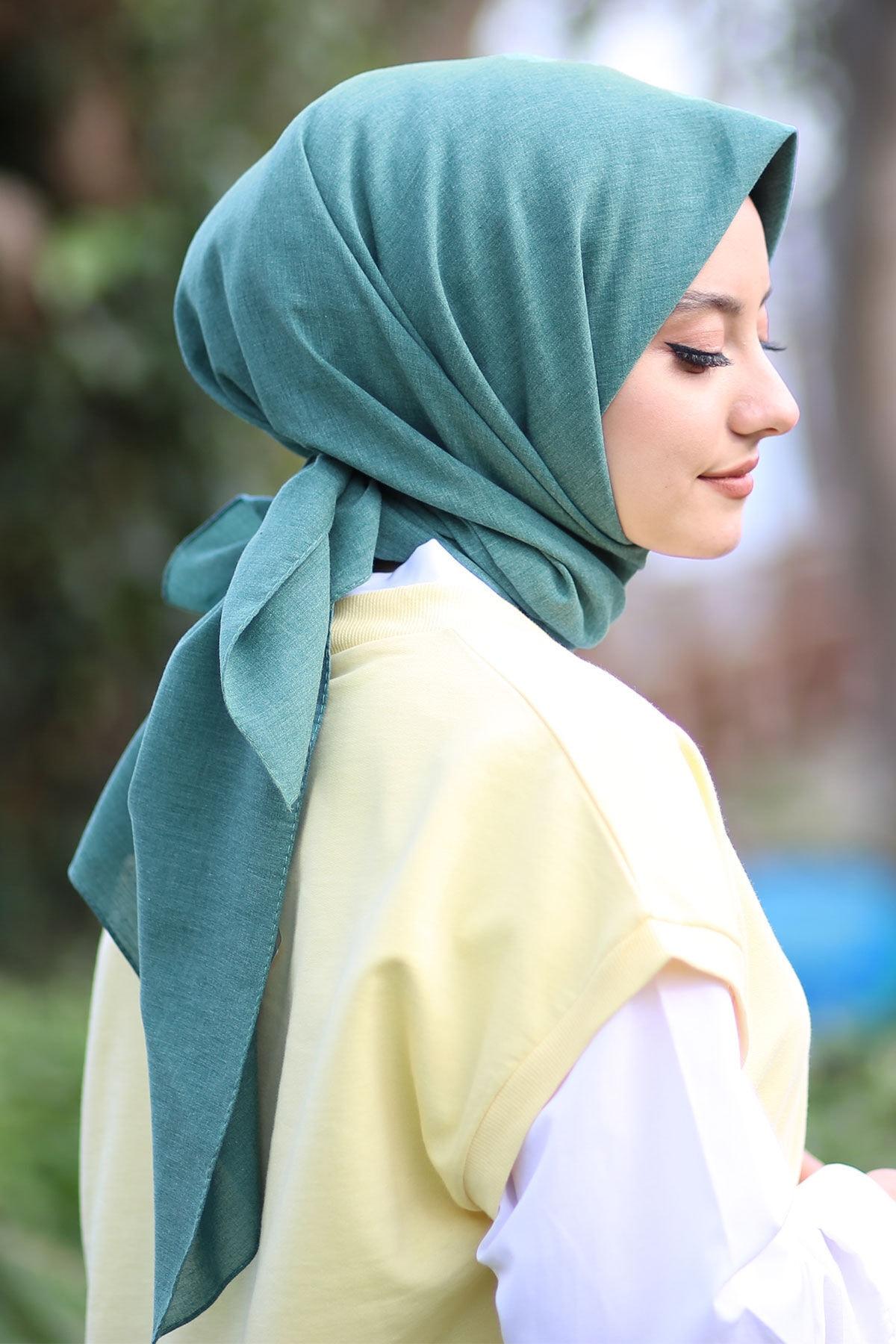 Women's Petroleum Cotton Cotton Scarf 2021 Fashion Hijab petroleum