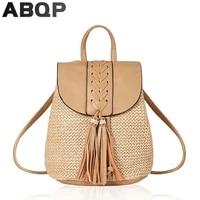 straw backpack bags for women new designed summer female shoulder bag cute travel shopping beach backpack bags