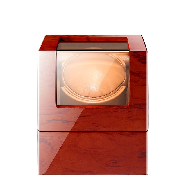 Top Single Watch Winder Motor Auto Self Winding 1 Brown Wooden Watches Box Storage Cabinet Lacquer Case Holder Watchwinder enlarge