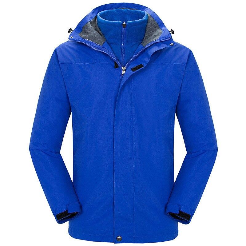 2 In 1 Ski Jacket Men Warm Skiing Snowboard Trekking Jackets Windproof Waterproof Breathable Snow Coats Winter Jacket For Men
