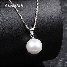 Ataullah réel naturel collier de perles deau douce en argent Sterling 925 bijoux pendentif colliers pour femme fête cadeau NW093