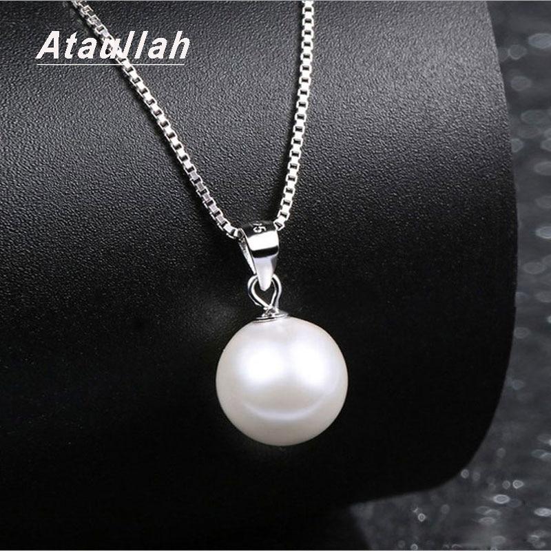 Ataullah perla natural de agua dulce auténtica Collar de plata de ley 925 joyas, collares, pendientes para mujer regalo de fiesta NW093