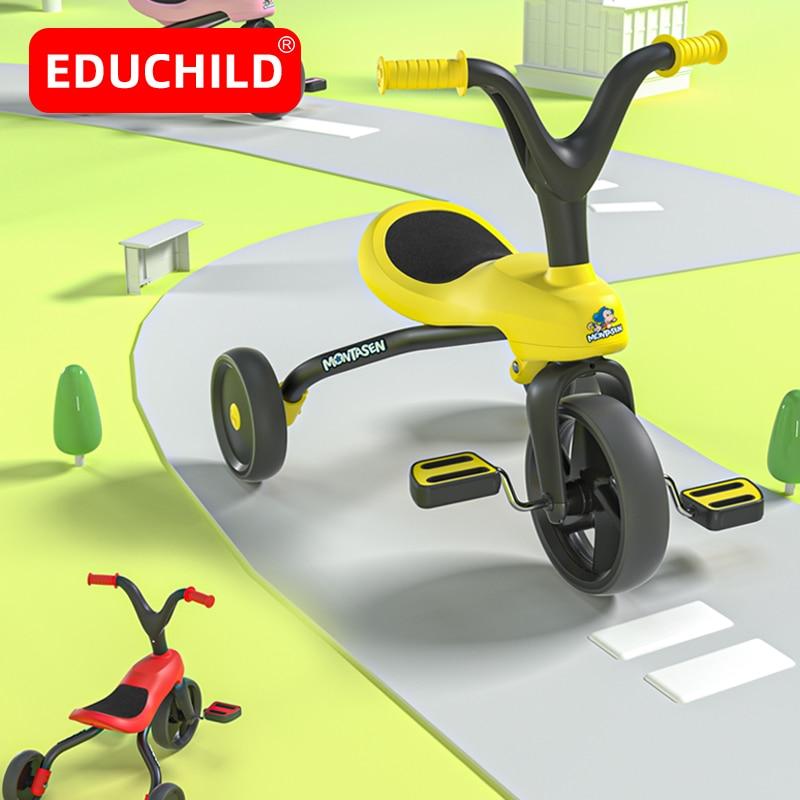 Edubaby دراجة للأطفال دراجة ثلاثية العجلات الطفل دراجة قابلة للطي الطفل التوازن دراجة أطفال سكوتر ركوب على اللعب هدية ل 1-6 سنوات من العمر