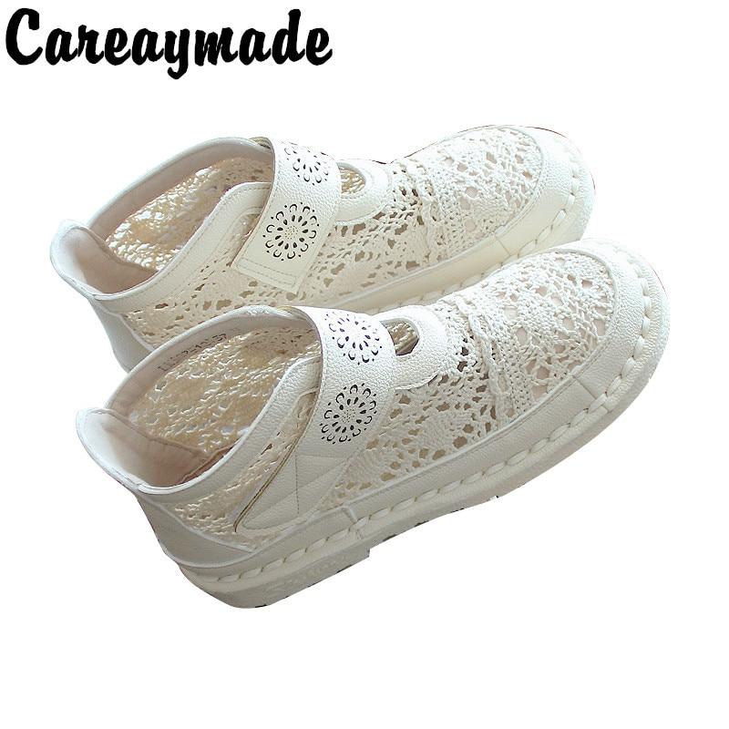 Careaymade/летние сандалии; Ботильоны; Сетчатая кружевная удобная женская обувь в стиле ретро с мягкой подошвой