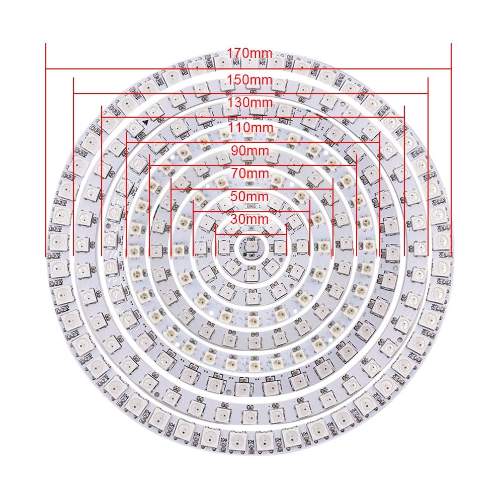 5V LED Halo Ring WS2812B RGB Light 30cm 50mm 60mm 70mm 90mm 110mm 150mm 170mm Angel Eyes Led Headlight Bulb Lamps for Car