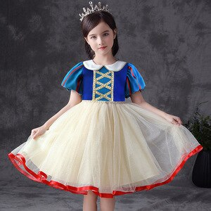 Kids Princess Dresses for Teen Girls Party Cosplay Costumes Children Puff Sleeve Ball Gown Carnival Fancy Birthday Dress 3-12 Y