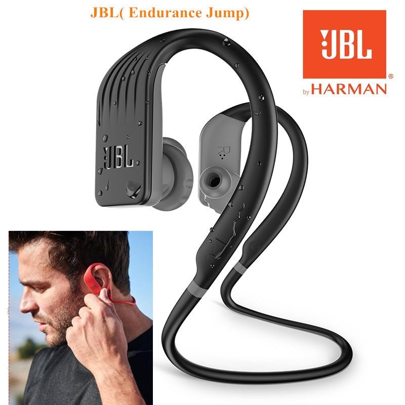 Original JBL Endurance Jump Wireless in-Ear Sport Headset with One-Button Mic/Remote IPX7 waterproof Prevent falling Headphones