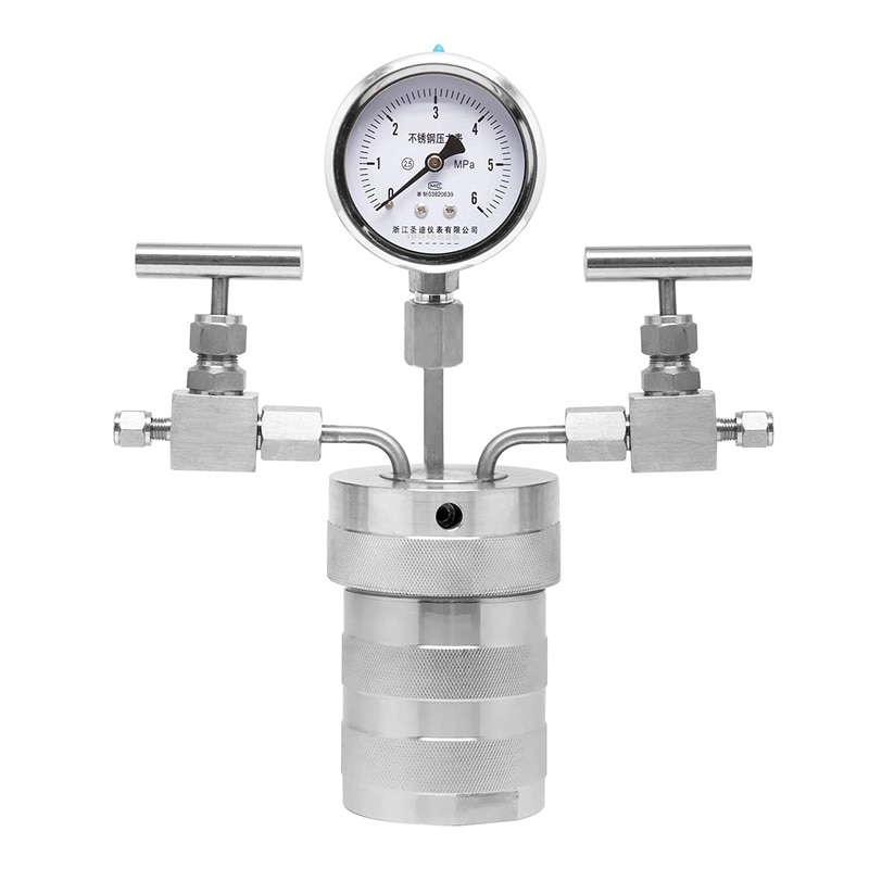 The Reactor Of Hydrothermal Synthesis Autoclave Can Connect Hydrogen With PTFE Lining Pressure Gauge, With A Pressure Of 180C