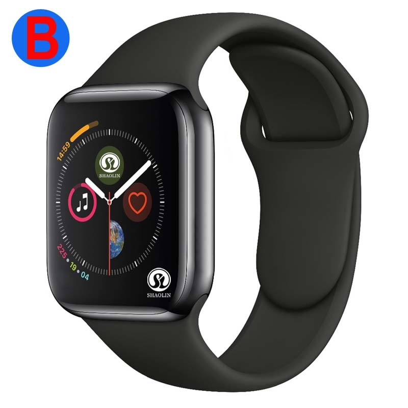 Review B Men Women Bluetooth Smart Watch Series 6 SmartWatch for Apple iOS iPhone Xiaomi Android Smart Phone (Red Button)