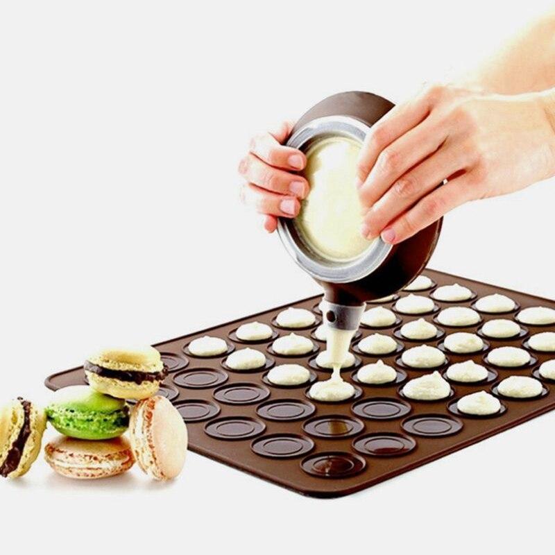 30-Cavity Silicone Macaron Macaroon Pastry Oven Baking Mould Sheet Mat DIY Mold Baking Mat Useful tools