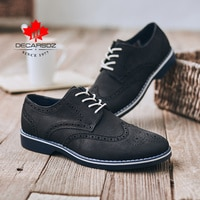 Men Shoes 2021 Fashion Brogue Lace up Shoes Comfy Luxury Leather New Brand Walking Casual Footwear Man Classic Men Casual Shoes