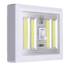 1pcs COB Wall Lamp Switch LED Battery Powered Garage Cabinet Closet Lamp Emergency Camping Night Lights